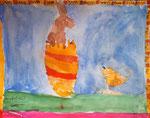 """""""Pâques"""", aquarelle de Nawfel, 6 ans"""