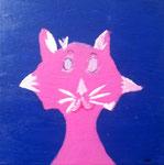 """""""Le chat rigolo"""", Eloïse 11 ans (acrylique sur toile)"""