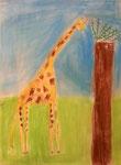 Girafe de Salma, 6 ans (pastel)