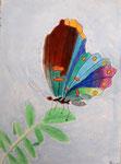 Papillon, pastel de Lucie, 10 ans
