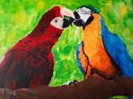 Perroquet de Claria, 13 ans  (acrylique sur toile)