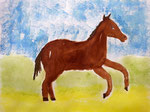 Cheval de Chloé, 12 ans (aquarelle)