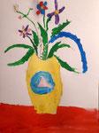 Bouquet à la gouache de Aaron, 8 ans