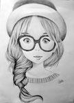 Manga, dessin de Maëlle, 15 ans