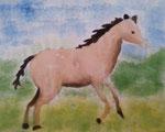 Cheval de Nassim, 10 ans, (aquarelle)