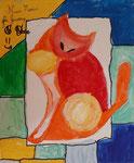 Acrylique sur toile de Nina, 7,5 ans