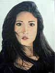 Acrylique sur toile, Mathilde 17 ans