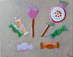 Bonbons, Ella, 9 ans (acrylique sur toile)