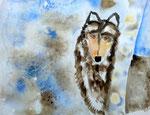 Loup de Nassim, 10 ans (aquarelle sur papier)