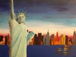 acrylique sur toile de Eloïse, 14 ans