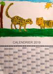 Calendrier 2019 de Nawfel, 7 ans et demi