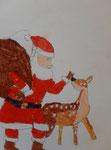 Dessin aux feutres aquarellables de Benjamin, 7,5 ans