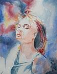 Aquarelle de Adèle, 17 ans