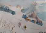Aquarelle de Clément V. 13,5 ans