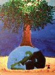 """""""Sauvons la planète""""Eloïse, 11 ans (acrylique sur toile)"""