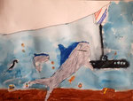 Aquarelle et feutres de Benjamin, 7 ans