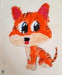 Acrylique sur toile de Pauline, 7 ans