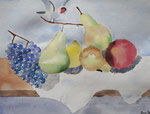Nature morte, aquarelle de Lucie H., 10 ans
