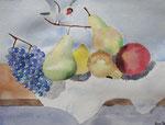 Nature morte, aquarelle de Lucie H., 10 ans