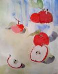 Pommes de Antoine, 10 ans (aquarelle)