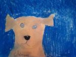 Chien de Clément, 6 ans (pastel)