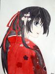 Manga de Maélys, 11 ans (aquarelle)