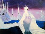 Dragon, 'acrylique sur toile)