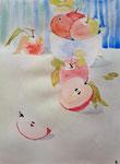 Pommes de Emily, 11 ans (aquarelle)