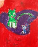 Acrylique sur toile de Gabriela, 8 ans