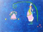 """""""La gâteau enchanté"""", Eloïse 10 ans (acrylique sur toile)"""