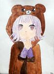 Manga de Ella, 8 ans et demi (aquarelle et feutres)