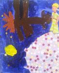 Le Petit Prince, Clément 6 ans (acrylique  sur carton toilé)