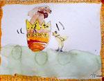 """""""Pâques"""", aquarelle de Manon, 6 ans"""