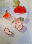 Pommes de Méline, 10 ans (aquarelle)