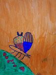 Papillon, feutres de Aaron 8 ans