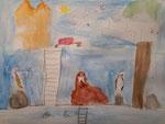 Dessin aquarellé de Aaron, 7 ans et demi