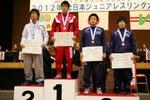 鴨居選手(山学大)を破り優勝した池田智(F.60kg級)