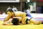 【男子F120kg級決勝】岡倫之(青=日大)vs馬場祐太朗(長崎県協会)