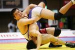 【男子F96kg級決勝】山本康稀(赤=日大)vs中井伸一(中大クラブ)