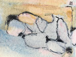 Akt II / 2006 / Acryl, Stifte auf Papier / 25x25