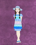 Natalia girl fashion design illustration