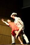 Robe Valérie: robe de tango en polyamide rouge corail