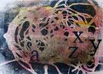 Spiegelung des nackten Ichs, 2016, Monotypie, Wasserfarbe, 17 x 25 cm