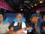 im Schlafsessel nach Bangkok