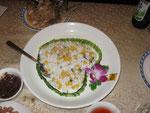 zarter Fisch mit Mais