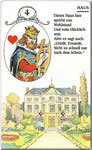 Lenormand Karte Nr.4 Kartenbild *das Haus*vom Kartendeck Carta Mundi*