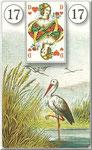Lenormand Karte Nr.17 *Die Störche*  Bilder zu Dondorf Kartendeck