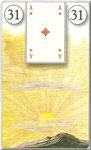 Lenormand Karte Nr. 31 *Die Sonne*  Bilder zu Dondorf Kartendeck