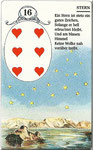 Lenormand Karte Nr.16 Kartenbild *die Sterne* vom Kartendeck Carta Mundi*