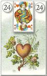 Lenormand Karte Nr.24 *Das Herz*  Bilder zu Dondorf Kartendeck